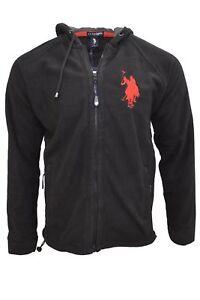 Mens USPA Hooded Fleece Jacket - Black, Red, Maroon, Blue