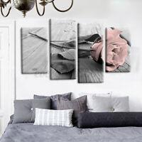 4Pcs Flower  Art Canvas Print Modern Abstract Painting Wall Home Decor