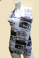 NWT Ladies THE MISFITS punk rock HORROR BUSINESS long TANK sleeveless shirt Sm