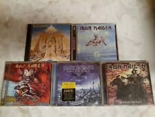 Iron Maiden Lot of 5 CDs Powerslave,Brave New world Virtual and more