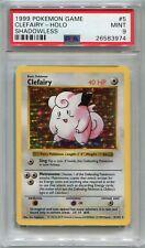 Pokemon Card Unlimited Shadowless Clefairy Base Set 5/102, PSA 9 Mint