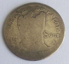 M102: 15 Sols 1791 A Monnaie Royale Française En Argent Voir Photos