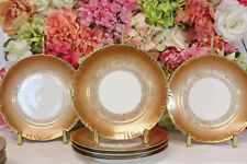 Haviland, Limoges, Antique Salad Plates (6) , CFH/GDM Pumpkin/Gilt Tracery
