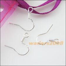 100 New Earring Findings Hooks Jewelry Sterling 925 Silver 15mm