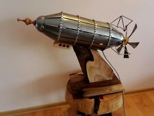 Zeppelin Shaped Lamp Handmade Handcrafted Only One Made Pub Lofthouse Unique