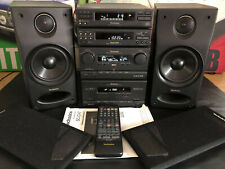 TECHNICS SC-CH7 HIFI SEPARATES SYSTEM + SB-CH7 SPEAKERS REMOTE CONTROL & MANUAL