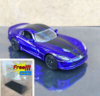 Majorette Dodge Viper Purple Chrome 1:60 238B No Package Free Display Box