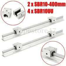 2X SBR10 400MM LINEARE GUIDE FULLY SUPPORTED LINEAR RAILS +4X SBR10UU CUSCINETTO