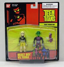 Teen Titans 3.5 Inch 2 Figures Beast Boy Terra Short Red Card BanDai Nip S163-1