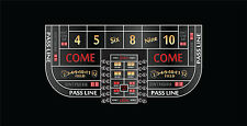 Single dealer casino craps layout 6 to 8 foot 3 colors to choose from