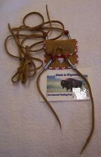 HAND MADE SMALL BEADED NECK POUCH RENDEZVOUS BLACK POWDER MOUNTAIN MAN 01