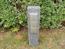 Gartensteckdose Granit Stein Stele Doppelsteckdose Steckdosensäule Basaltsäule