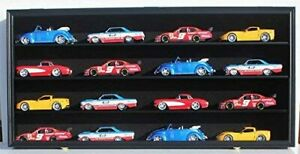 Display Case Wall Cabinet for 1:24 Scale Diecast Nascar Cars Hot Wheels