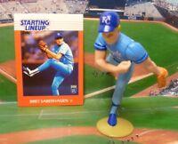 1988  BRETT SABERHAGEN - Starting Lineup Baseball Figure & Card - KC ROYALS