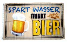 Flagge / Fahne Spart Wasser Trinkt Bier Hissflagge 90 x 150 cm