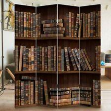 Paravento Separe 4 Pannelli Stampa Fronte Retro Libreria Antic Divisorio 180x160