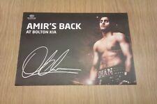 Signed Amir Khan Card (8.5 x 6)