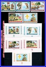 CHAD 1972 BOY SCOUTS + 5 S/S SC#257-59//C119 MNH ANIMALS, BIRDS, SQUIRREL (E15)