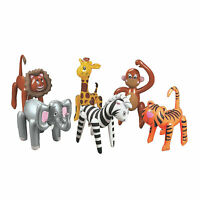 Inflatable Zoo Animal Assortment - Toys - 12 Pieces