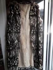 Ancien long gilet veste sans manche peau poil de lapin estampillé C.Mendes Paris