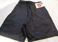 Hanes Jogging  Short Small Black Color  2 pocket 100 % Cotton Jersey Material