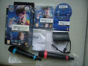 STARTER PACK Singstar 2 MICRO sans fil récepteur USB FR PAL PS3 Playstation 3
