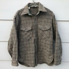 Vtg Woolrich Jacket Men's Windowpane Wool Hunting Brown Size M USA Made