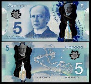 CANADA - NEW P106d - 5 DOLLARS - 2013 - GEM UNC - PREFIX INJ - WILKINS & MACKLEM