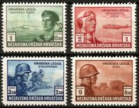 DR Nazi Croatia Rare WWII Stamps Legion Panzer Soldier Attack in Russia War Set