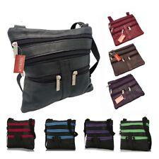 New Womens Ladies Real Leather Tote Cross Body Messenger Shoulder Handbag Bag