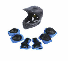 CIGNA Kids Bicycle Bike Convertible Helmet Black S-size w/Blue protective pads
