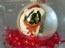 New Saint Bernard Pet Dog Christmas Holiday Ball Ornament By Ruth Maystead