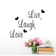 Live Laugh Love Inspirational Quote Vinyl Wall Sticker Home Decor Room Sofa DIY