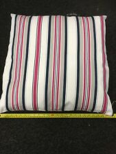 """Handmade Feather filled Luxury Pet Bed Large 61cm 24"""" Stone Pink Navy Striped"""