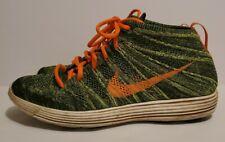 Nike Lunar Flyknit Chukka Mens sz. 8.5 Lunarlon Volt Green Orange