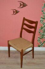 60er Chaise eßzimmerstuhl DANISH DESIGN TECK papierkordel hauts talons dossier
