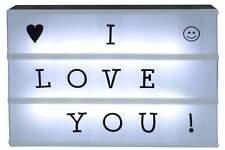 LED Leuchtkasten mit 90 Buchstaben & Symbole Leuchtbox Leuchtschild Kino NEU