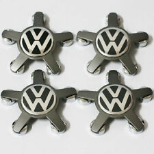 4x Volkswagen Wheel Center HUBCAPS  5 Spoke FOR AUDI Wheel Hub Cap Silver Chrome