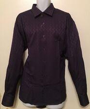 MARCELLO SPORT MEN DARK PURPLE DRESS SHIRT, SIZE L, XL, XXL, XXXL
