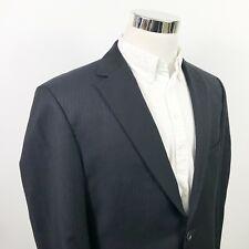 Hugo Boss Mens 42R Paolini Movio US Suit Jacket Black Striped Wool Two Button
