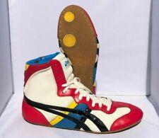 "ASICS Tiger ""Carnival"" Wrestling Shoes (2008) Size 9.5 Red White Blue RARE"