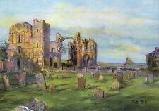 Lindisfarne Priory Rainbow Arch Holy Island England, United Kingdom Art Postcard