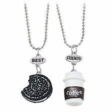 Vogue Coffee Cup and Oreo Cookies Necklace Best Friends For Kids 2pcs/set