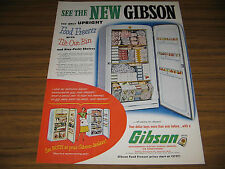 1953 Vintage Ad Gibson Upright Freezers with Tilt Out Bin Greenville,MI