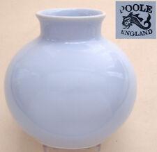 "Poole Pottery: Calypso: Pale Blue/Lilac Globe Vase: 4"" Tall x 4"" Diameter"