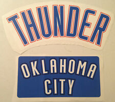 Set of (2) Oklahoma City Thunder Fathead Official Nba Wall Graphics Team Signs