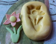 Flower Flexible Silicone Mold- for polymer clay, wax, fondant, resin, etc.