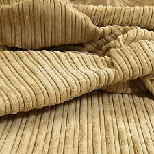 10 Meter Of Soft High Low Velvet Quality Cord Durable Upholstery Fabric New Sand