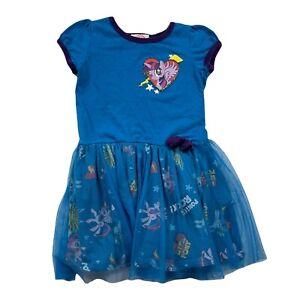 My Little Pony Twilight Blue Dress Tulle Skirt Short Sleeve Girls Size 4T