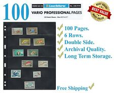 25 LIGHTHOUSE Vario 6s Black 6 Rows for STAMPS Paper Money Professional Pack
